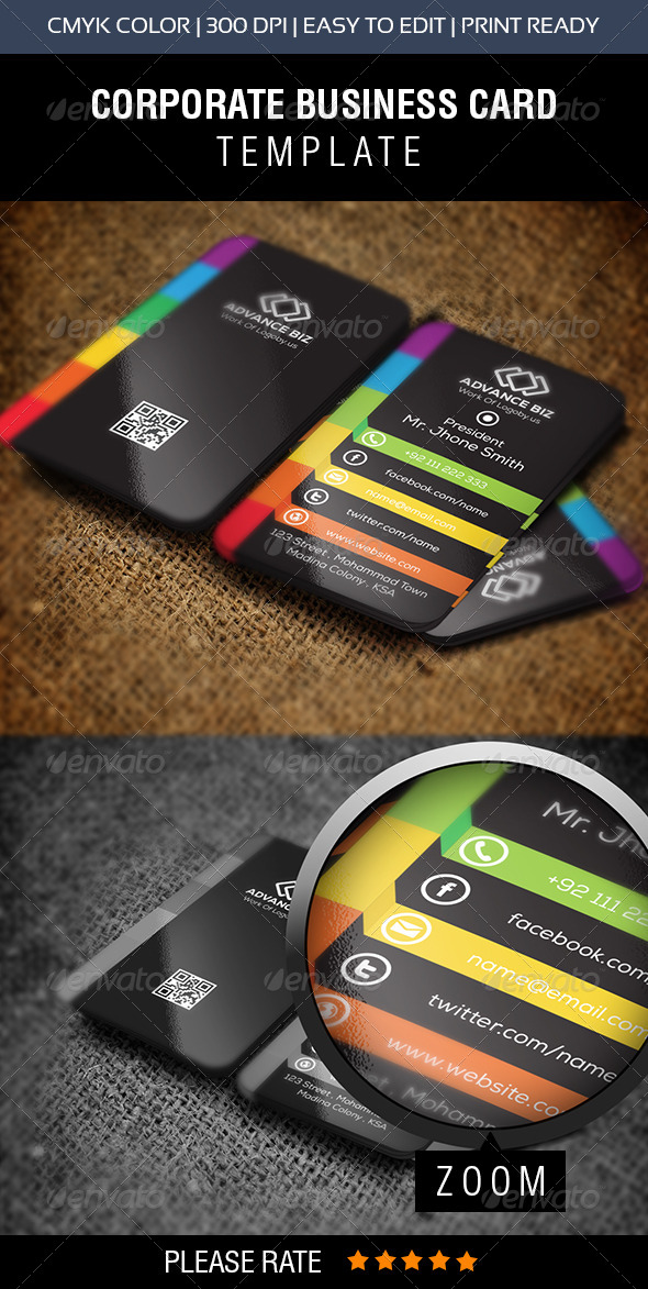 GraphicRiver Corporate Advance Biz Business Card 8565700