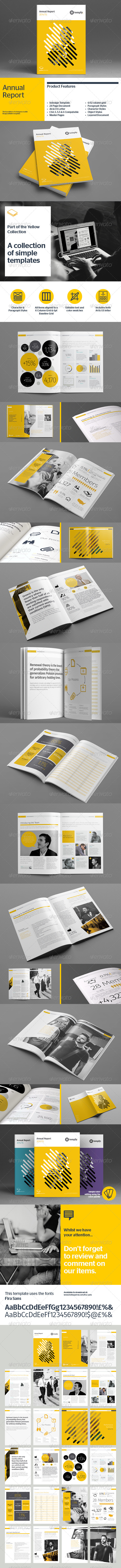 GraphicRiver Annual Report Template 8536189