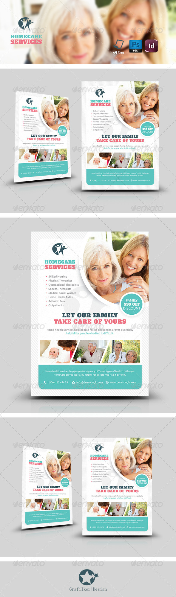 GraphicRiver Home Care Flyer Templates 8565730
