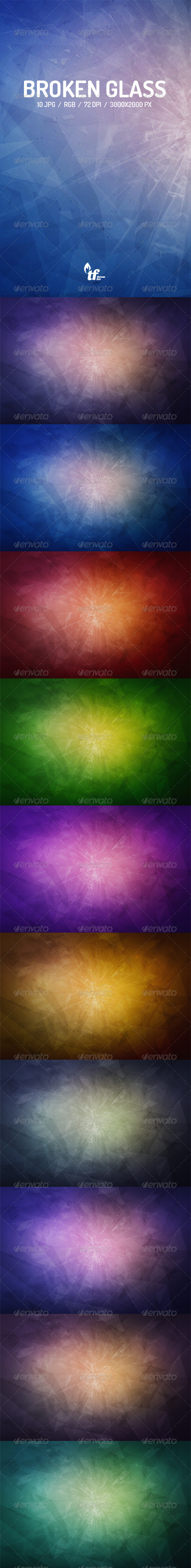 GraphicRiver 10 Broken Glass Backgrounds 8565750