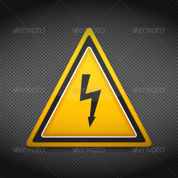 GraphicRiver High Voltage Sign 8565763