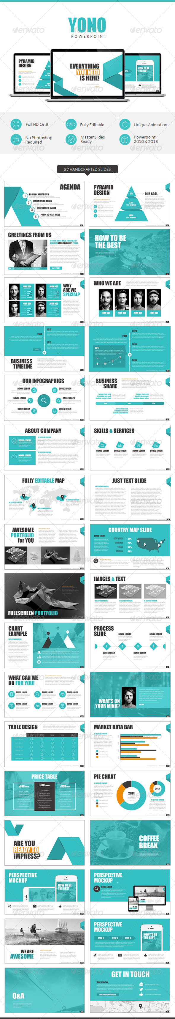GraphicRiver YONO Powerpoint Template 8551502