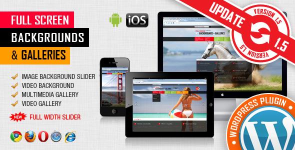 Image&Video FullScreen Background WordPress Plugin - CodeCanyon Item for Sale