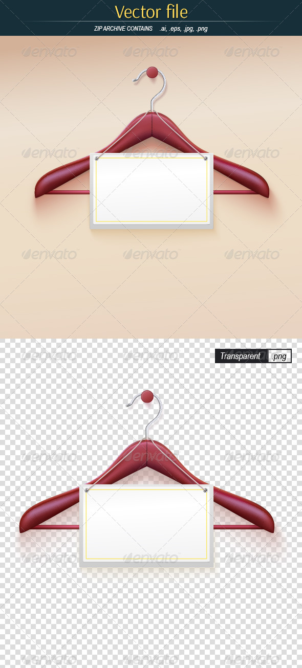 GraphicRiver Hanger With a Blank Label 8565839