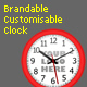 Brandable Customisable Analogue Clock - ActiveDen Item for Sale