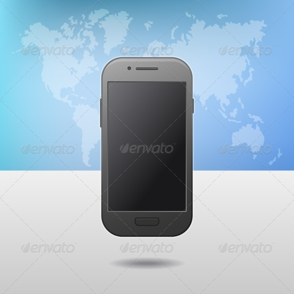 GraphicRiver Template with Touchscreen Mobile Phone Device 8565970