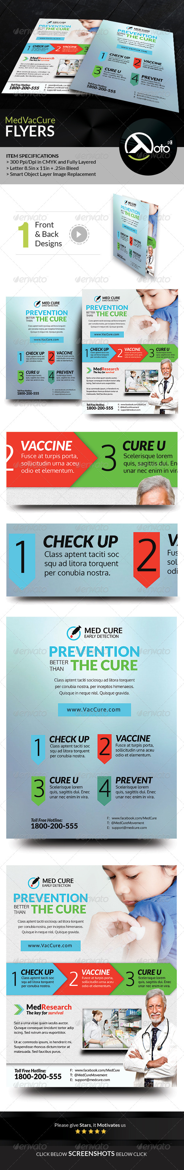 GraphicRiver Med Vac Cure Early Detection Health Care Flyers 8566002