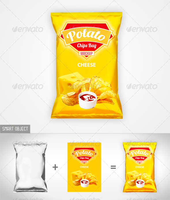 GraphicRiver Chips Bag Mock-up 8566039