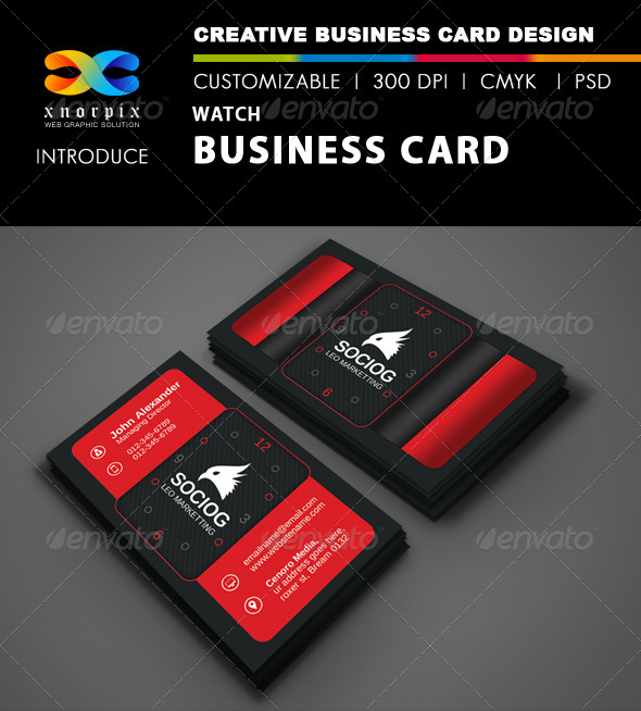 GraphicRiver Watch Business Card 8566047