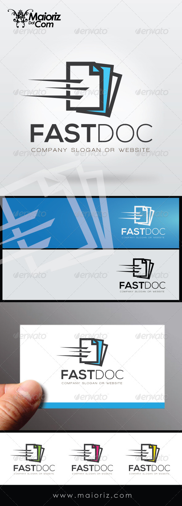 GraphicRiver Fast Doc Logo Template 8566062