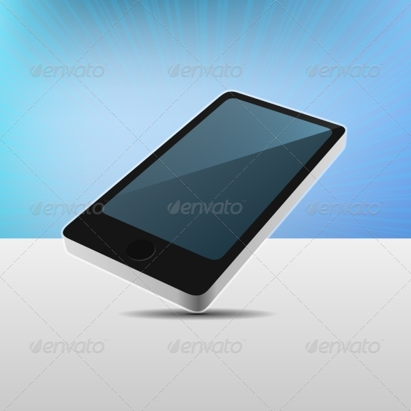 GraphicRiver Realistic 3D View Modern Mobile Phone 8566109