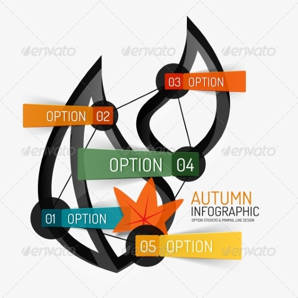 Autumn Option Infographic Banner