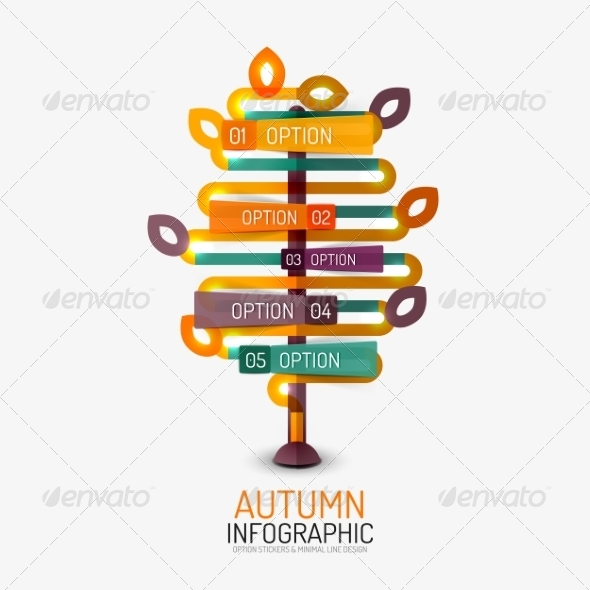 GraphicRiver Autumn Option Infographic 8566265
