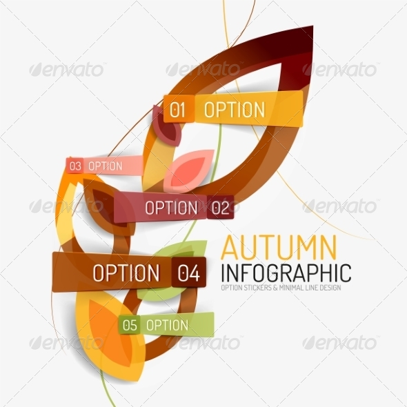 GraphicRiver Autumn Option Infographic 8566275