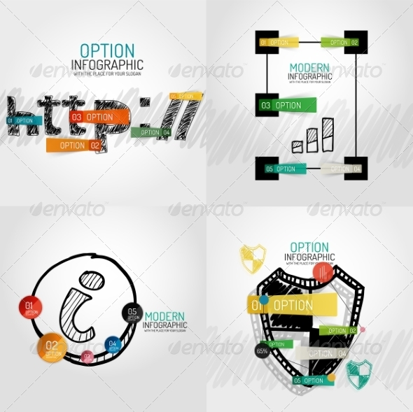 GraphicRiver Hand Drawn Internet Concepts and Stickers 8566281