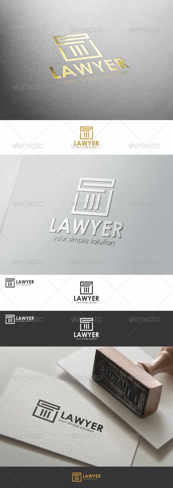 GraphicRiver Lawyer Justice Firm Logo 8566294