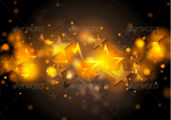 GraphicRiver Abstract Shiny Stars Background 8566330