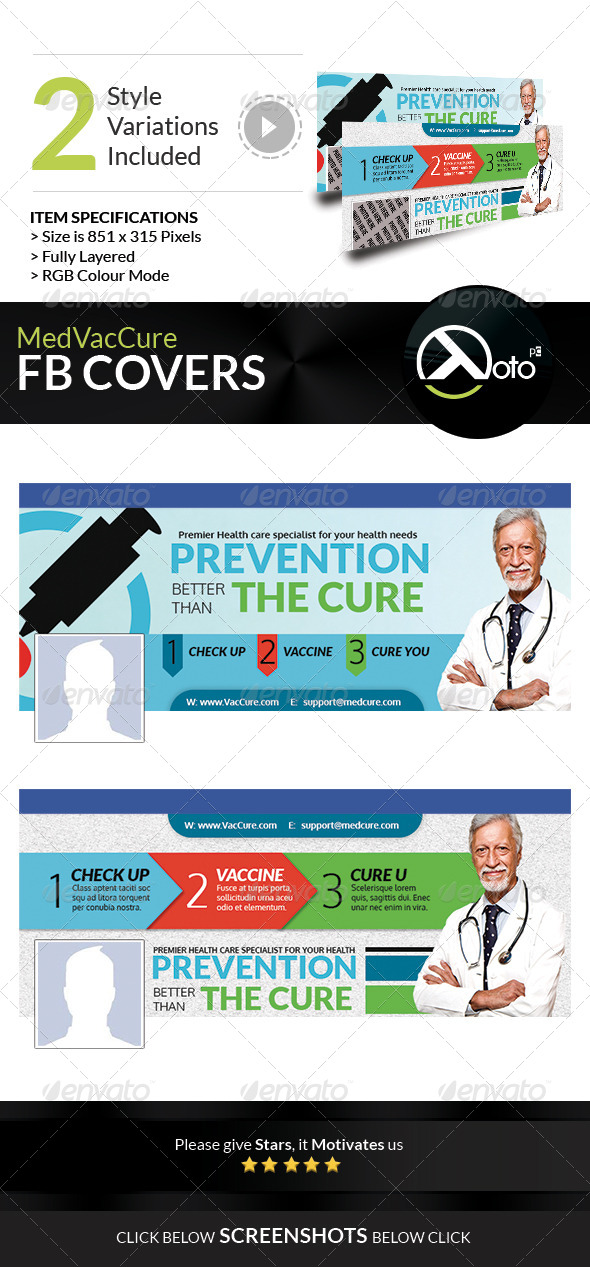 GraphicRiver Med Vac Cure Early Detection Health Care FB Banner 8566333