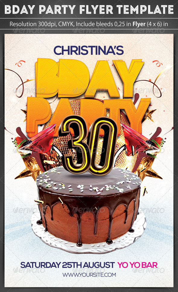 GraphicRiver Birthday Party Flye 8566356