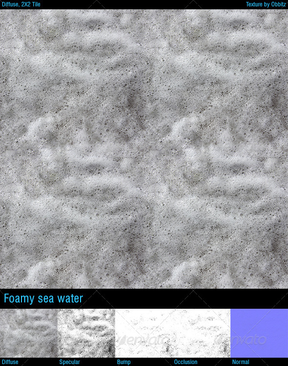Foamy seawater - 3DOcean Item for Sale