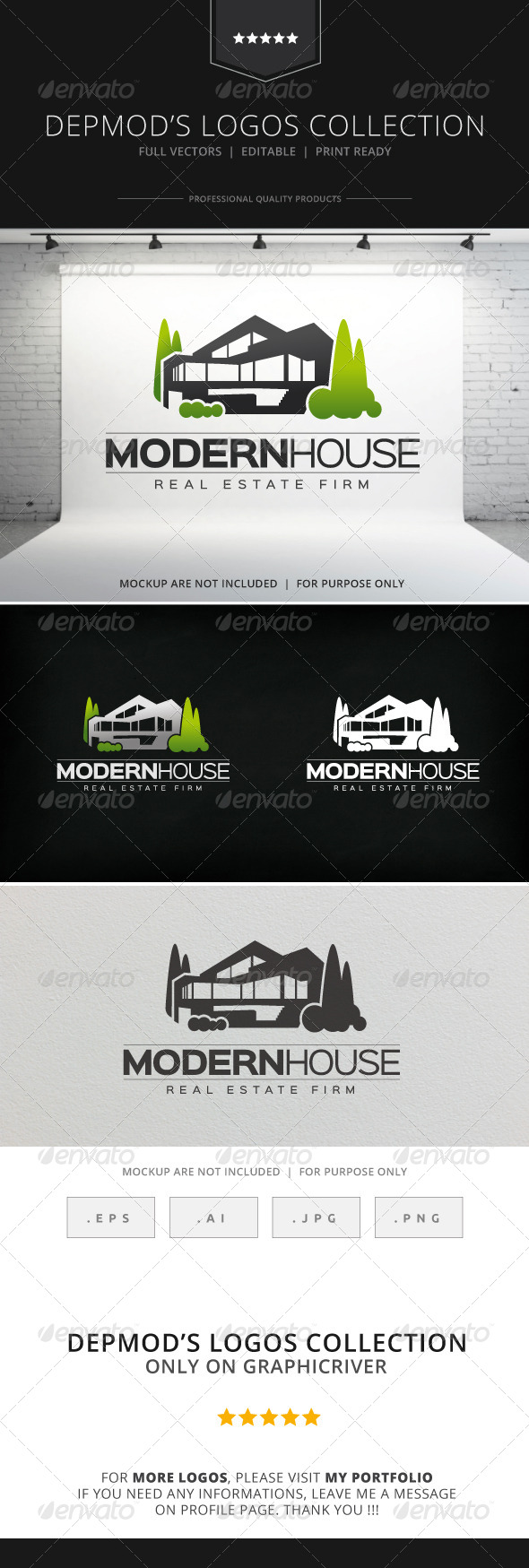GraphicRiver Modern House Logo 8566628