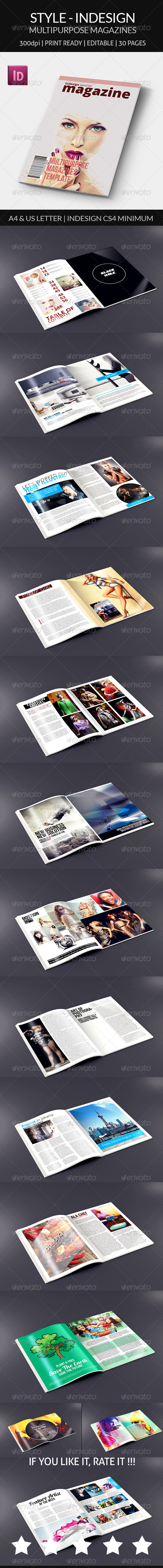 GraphicRiver Style Indesign Magazine Template 8566633