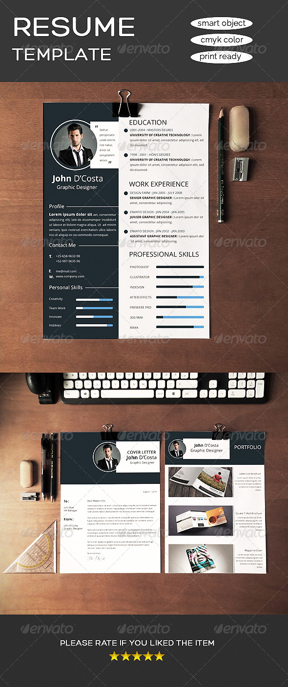 GraphicRiver Clean Resume 8566671