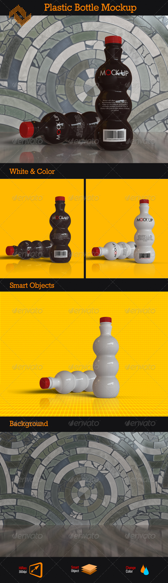 GraphicRiver Plastic Bottle Mockup 8566717