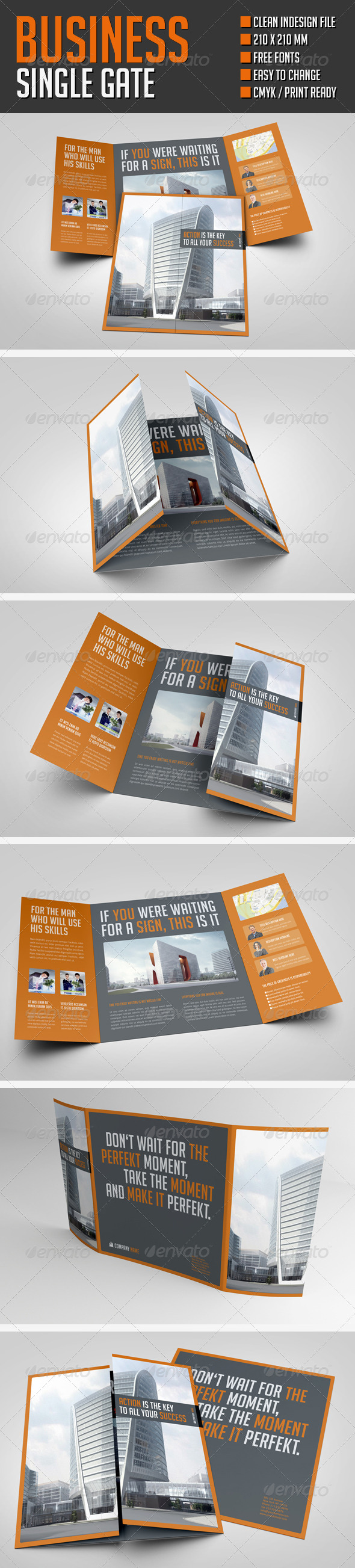 GraphicRiver Business single gate flyer 8566751