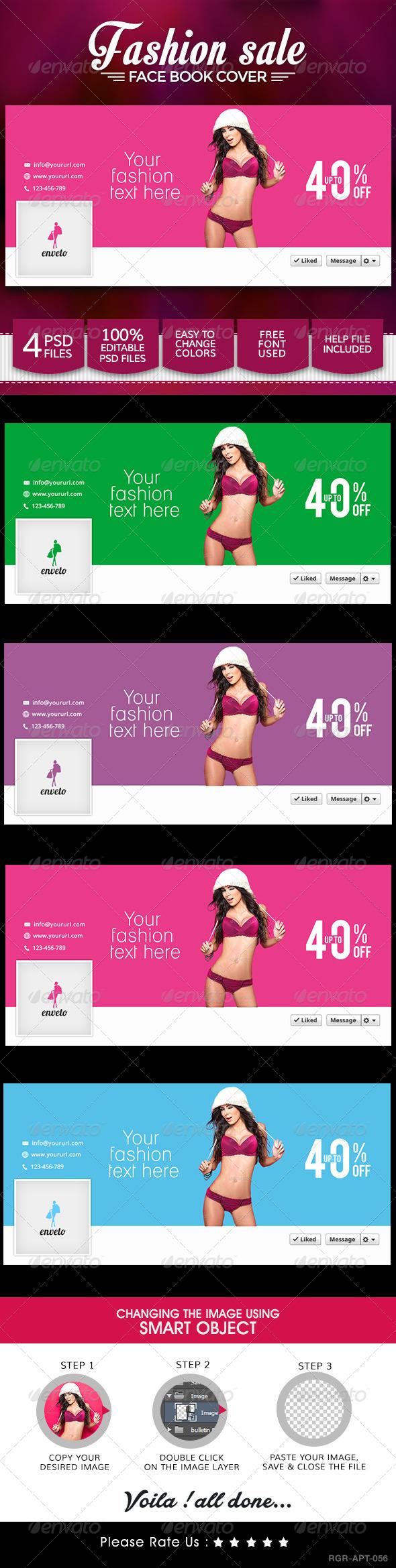 GraphicRiver Fashion Sale Minimalistic Facebook Cover Design 8566784