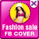 Fashion Sale Minimalistic Facebook Cover Design - GraphicRiver Item for Sale