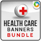 Health Care Banner Bundle - 3 sets - GraphicRiver Item for Sale