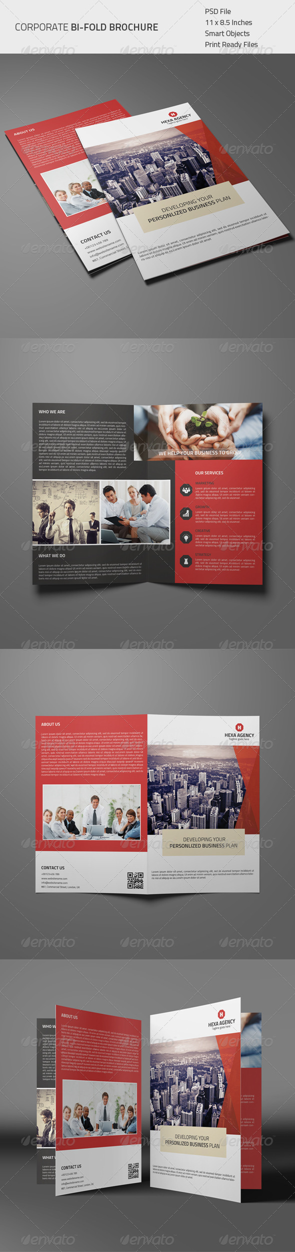 GraphicRiver Corporate Bi-fold Brochure 01 8566989