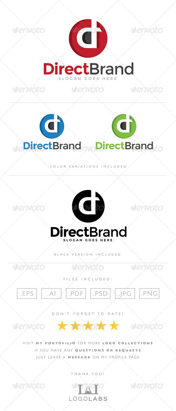 GraphicRiver Letter D Logo 8567190