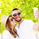 Young couple taking selfie in the park - PhotoDune Item for Sale