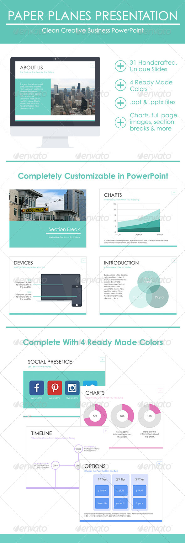 GraphicRiver Clean Creative Business Presentation 8567209