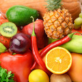 bright background of a variety of vegetables and fruits - PhotoDune Item for Sale