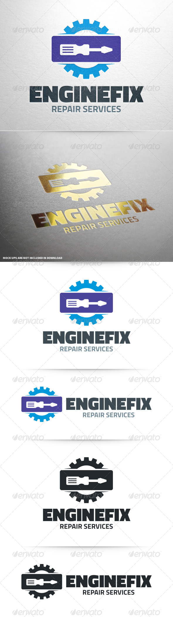 GraphicRiver Engine Fix Logo Template 8567218