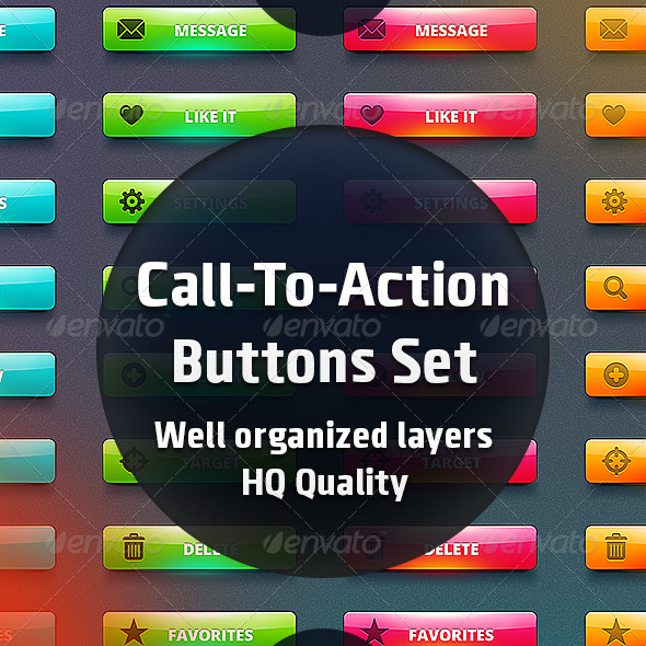 Call-To-Action Buttons Set