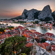 Aerial View on Omis and Cetina River Gorge in the Evening, Dalma - PhotoDune Item for Sale