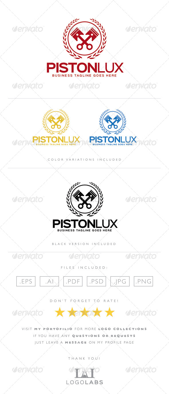 GraphicRiver Piston Logo 8567395