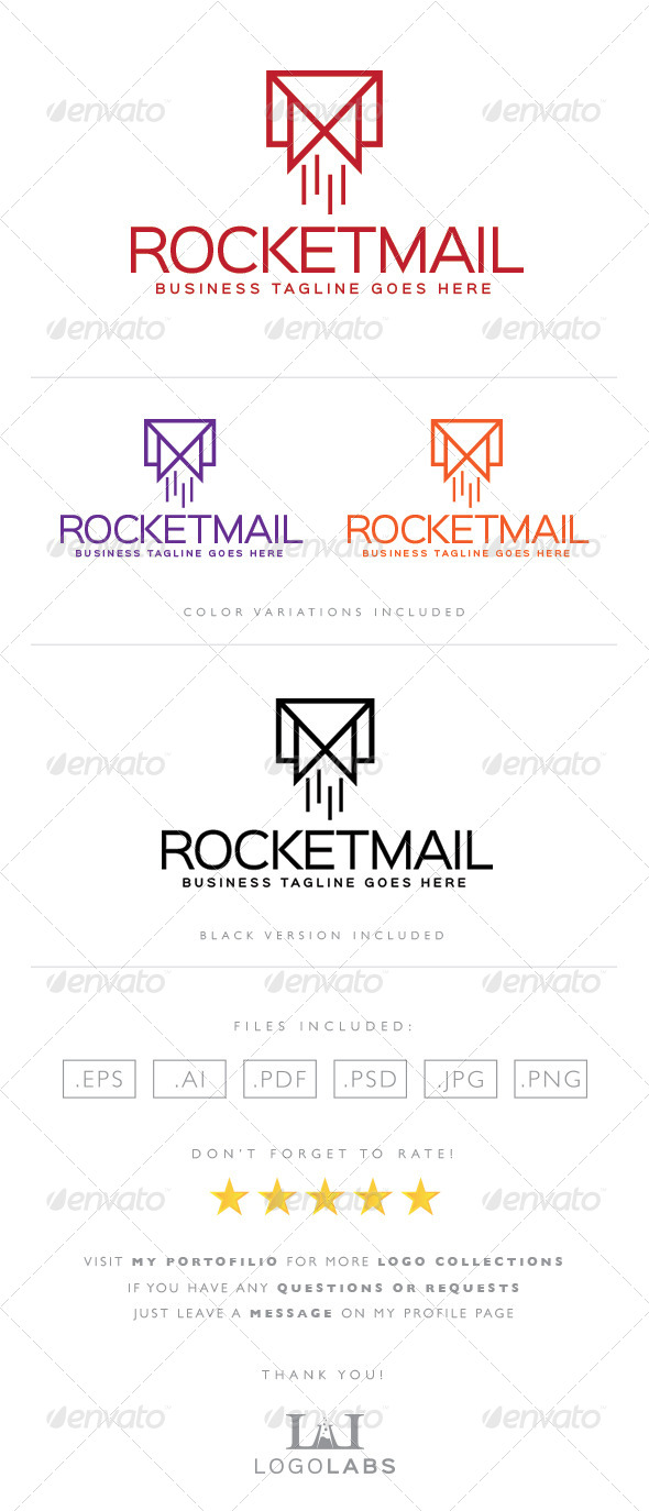 GraphicRiver Rocket Mail Logo 8567404