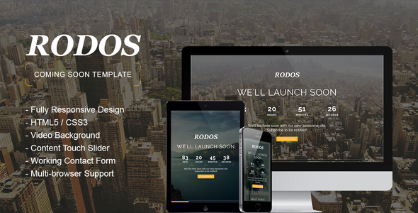 ThemeForest Rodos Responsive Coming Soon Theme 8543084