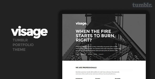 ThemeForest Visage Tumblr Theme 8567565
