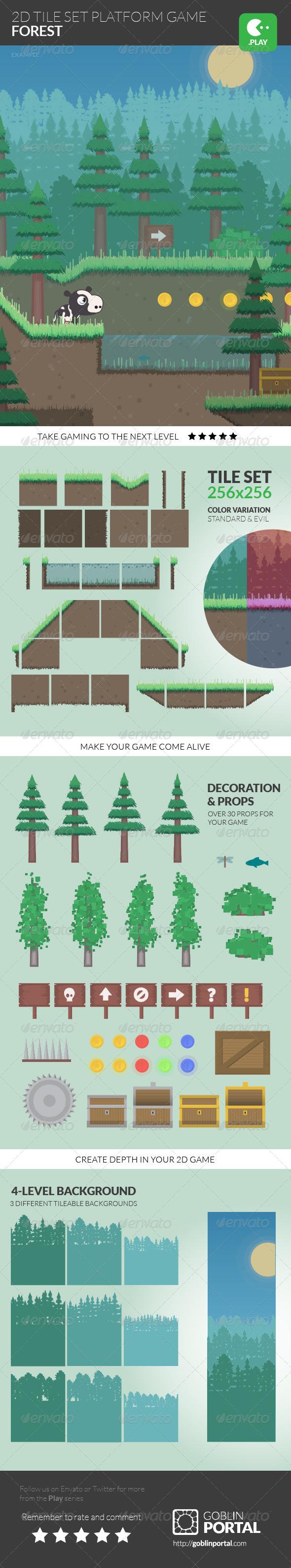GraphicRiver 2D Tile Set Platform Game 8567592