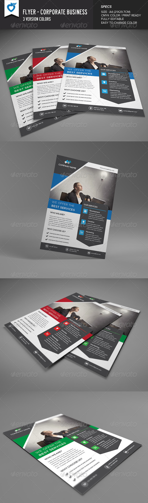 GraphicRiver Flyer Corporate Business 8567806