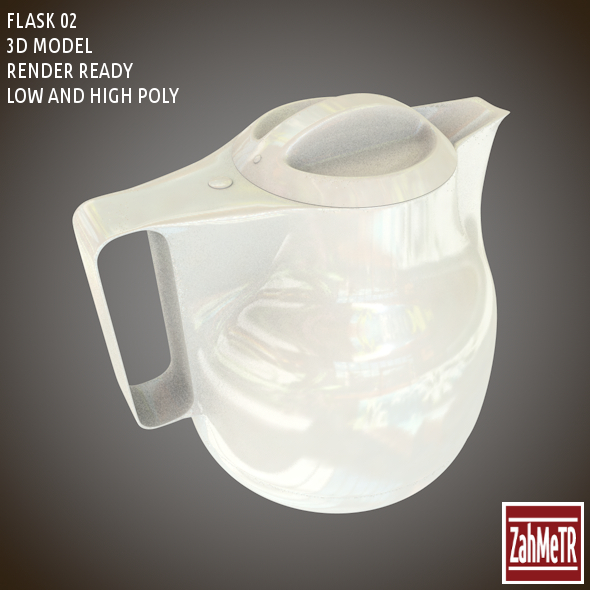 3DOcean Flask 02 Low High Poly 8567903
