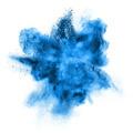 blue powder explosion isolated on white - PhotoDune Item for Sale