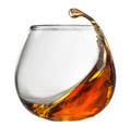 Splash of cognac in glass isolated on white - PhotoDune Item for Sale