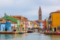 Color houses on Burano island near Venice - PhotoDune Item for Sale